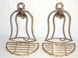 Solid Brass Decorative Wall Sconces Bell Shaped Shelves Decor Vintage - $16.72
