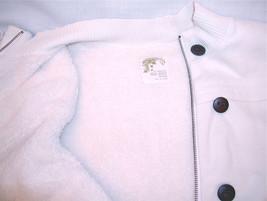 Old Navy Maternity Long Sherpa Cotton Vest Women XXL Cream White Pockets Zipper image 2