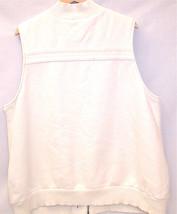 Old Navy Maternity Long Sherpa Cotton Vest Women XXL Cream White Pockets Zipper image 4