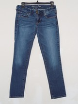 American Eagle AE skinny stretch blue jeans womens size 4 short 4S - $7.19