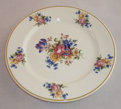 Syracuse China Colonial Lunch Plate Yellow Band Roses Flowers Floral Lun... - $14.95