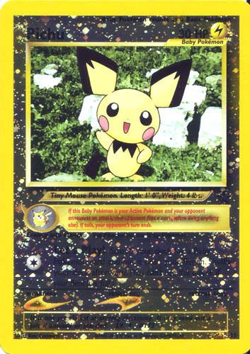 Pichu 35 Reverse Holo Black Star Pokemon Promo Card MINT
