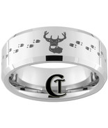 Tungsten Band 8mm Beveled Deer Hunting Design R... - $49.00