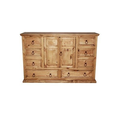 Traditional Style Rustic Knotty Pine Bedroom Set Real Wood Western Bedroom Sets