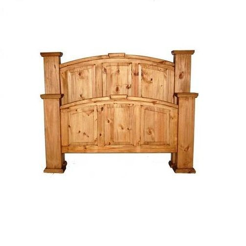 traditional style rustic knotty pine bedroom set real 15765 | 57