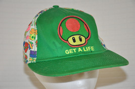 Get A Life GREEN Mushroom SUPER Mario BROS Nintendo BASEBALL Hat CAP Fit... - $12.95