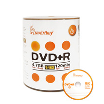 100 Pack Smartbuy 16X DVD+R DVDR 4.7GB Logo Top Data Video Blank Recordable Disc - $19.94