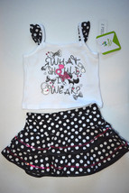Disney BABY 2PC OUTFIT SLEEVELESS SHIRT AND RUFFLE SKIRT SIZE 6M  NWT - $11.19