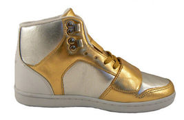 Creative Recreation Womens Gold Silver Cesario Hi Top Gym Shoes Sneakers 6US NIB image 4
