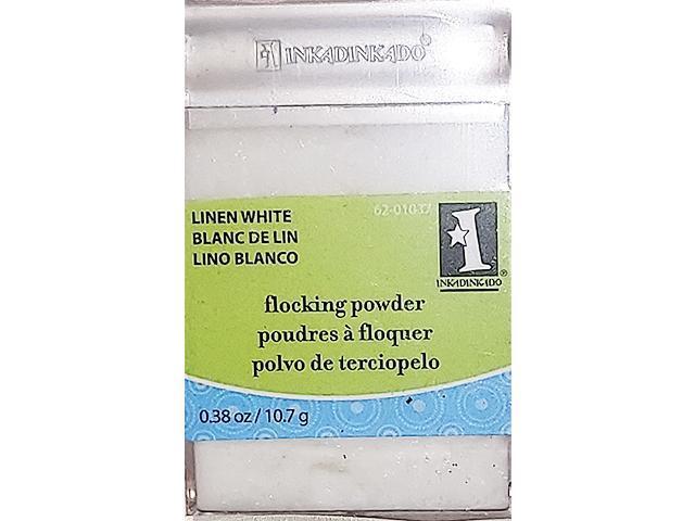 Inkadinkado Flocking Powder, Linen White #62-01037