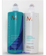 Moroccanoil Blonde Perfecting Purple Shampoo and Hydration Conditioner 33.8 oz - $104.99