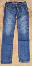 American Eagle Skinny Super Stretch blue jeans womens juniors 2 Regular - $11.99