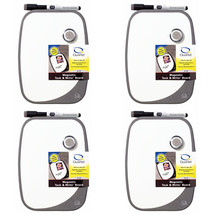 Quartet Magnetic Tack and Dry-Erase Board Set, 9 x 11, Graphite, 4 Packs - $35.99