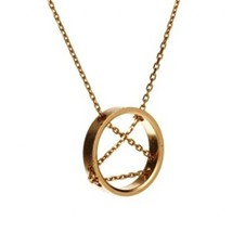 New Look Gold Chain and Ring Necklace - £6.14 GBP