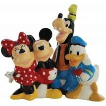 Walt Disney's Mickey and Friends Ceramic Salt and Pepper Shakers, NEW UN... - $33.85
