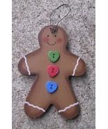 Wooden Christmas Ornament  1020 - Gingerbread Man - $1.95