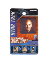 Star Trek: TNG Picard Photo Image Reusable Phone/Tablet Screen Wipe NEW UNUSED - $2.99