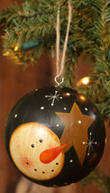 Paper Mache' Ornament 7D3961-Snowman & Star Ball - $5.95