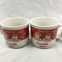 Campbell's Kids Soup Cup Mug Pair China 1998 Ho... - $37.39