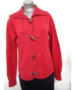 LL  Bean  Womens Small Regular Red Cotton Toggle Fasteners  Long Sleeve ... - $15.64