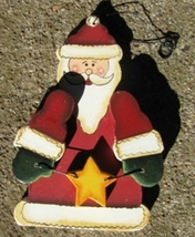 Wooden Christmas Ornament 1000 - Santa  - $1.95