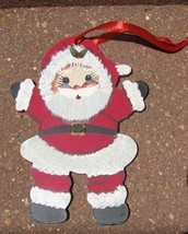 1161 - Little Boy Santa Wood Christmas Ornament - $2.50
