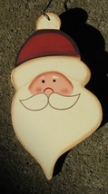 73 - Santa Face Wood Christmas Ornament - $2.25