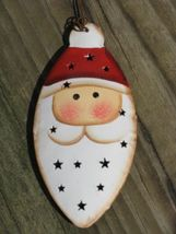 OR-304 3D Punched Tin Santa Christmas Ornament  - $1.95