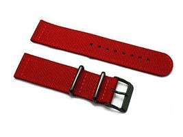 HNS 2 Pieces 20mm Red G10 Mod Ballistic Nylon Nato Watch Strap with PVD ... - $15.00