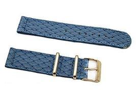 HNS 2 Piece 20mm Graphic Printed Indigo Sashiko Waves Blue Nylon Nato Wa... - $19.50