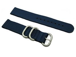 HNS 2 Pieces 20mm Navy Heavy Ballistic Nylon Zulu Watch Strap with 3 Mat... - $13.50