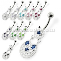 Fancy Jeweled belly button rings - $10.54