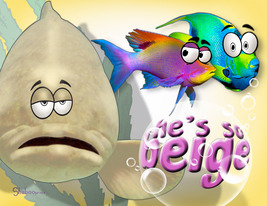Funny Cartoon Fish Thinking Of You Card: So Not Beige By Shaboo Prints - $5.00