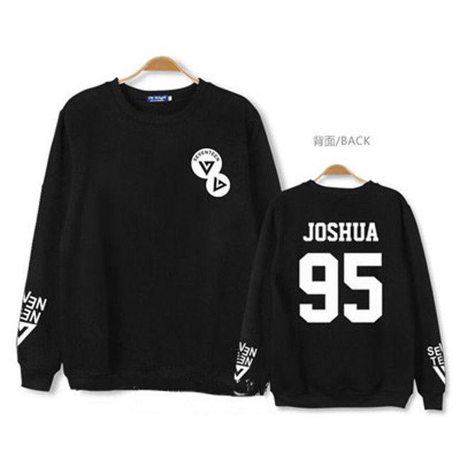 KPOP SEVENTEEN 17 Sweater VERNON Long Sleeve Unsiex  Hoodie JUN