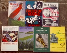7 Maine books Beside the St. George's, Main Stays of Maine, The Funeral ... - $15.00