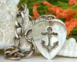 Vintage napier anchor heart nautical charm bracelet sterling thumb155 crop