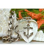 Vintage Napier Anchor Heart Nautical Charm Brac... - $54.95