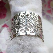 120pieces Laser cut Metallic Paper Silver Color Wedding Decoration Napkin Ring - $40.80