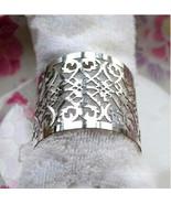 120pieces Laser cut Metallic Paper Silver Color Wedding Decoration Napki... - $40.80