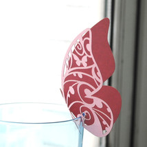 100pcs Table Place Cards,Butterfly Place Cards for Wine Glass  - $29.00