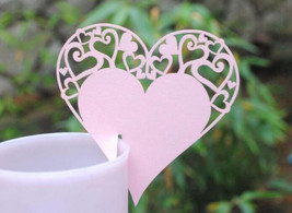 100pieces free shipping Wedding Party Decoration Love Heart Table Place Card  - $29.00