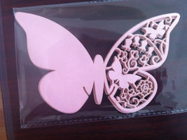 100pieces Pink Butterfly Wedding Decoration Place Cards,Laser Cut Place Card  - $29.00