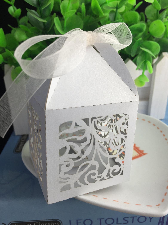 100pcs White Wedding Gift Packaging Boxes Birthday Cake