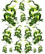Rockabilly Tattoo Art Guitar Dragon Waterslide Decal 4  #48 - $9.95