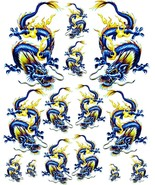Rockabilly Tattoo Art Guitar Dragon Waterslide Decal 2   #46 - $9.95