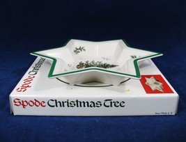 """Spode Christmas Tree STAR Shaped Candy Nut Cookie DISH L/S England  12"""" x 12"""" - $38.60"""