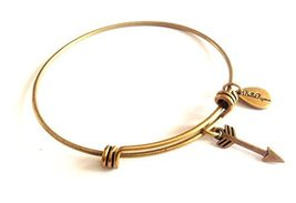 Bella Ryann Arrow Gold Charm Bangle Bracelet