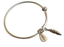 Bella Ryann Feather Silver Charm Bangle Bracelet