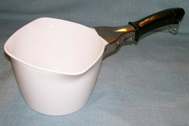 Vtg Corning Ware Cookmates SAUCE MAKER SM-1  All White 1 QT /4 Cup- Pan ... - $25.95