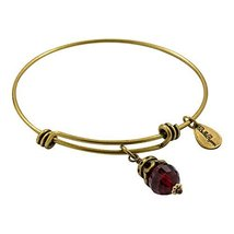 Bella Ryann Goldtone Birth Crystal Charm Bangle - August image 2